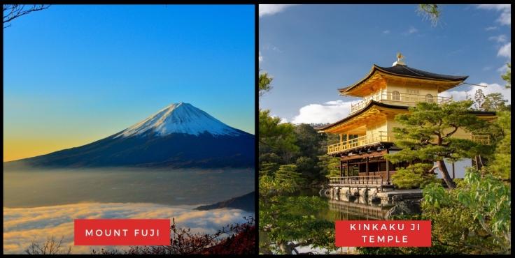 Mount Fuji & Kinkaku ji Temple
