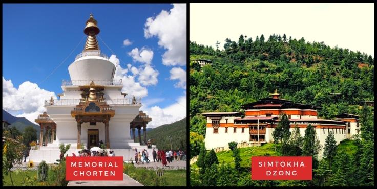 Memorial Chorten & Simtokha Dzong