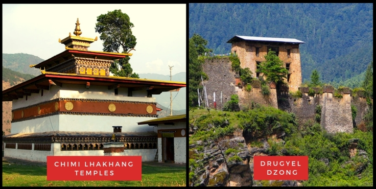Chimi Lhakhang Temples & Drugyel Dzong